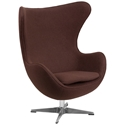 Paradigm Lounge Chair in Brown Wool