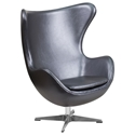 Paradigm Lounge Chair in Gray Leathersoft