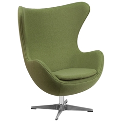 Paradigm Lounge Chair in Green Wool