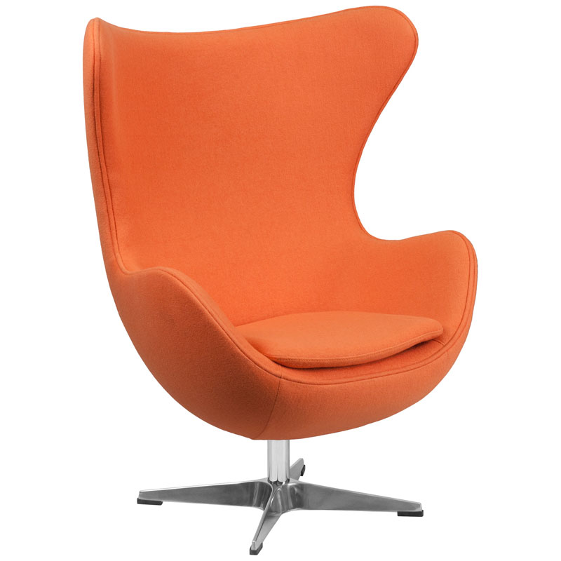 Paradigm Lounge Chair in Orange Wool