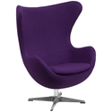 Paradigm Lounge Chair in Purple Wool