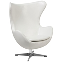 Paradigm Lounge Chair in White Leathersoft