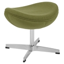 Paradigm Modern Green Wool Fabric Ottoman