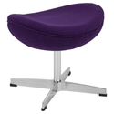 Paradigm Modern Purple Wool Fabric Ottoman