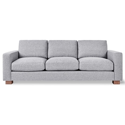Gus* Modern Parkdale Contemporary Sofa in Parliament Stone with Wood Feet