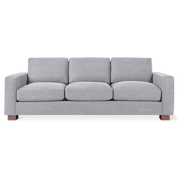 Gus* Modern Parkdale Contemporary Sofa in Gray Vintage Alloy Fabric Upholstery with Solid Wood Feet