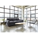 Parkdale Contemporary Sofa by Gus* Modern in Charcoal Colored Vintage MIneral Fabric Upholstery