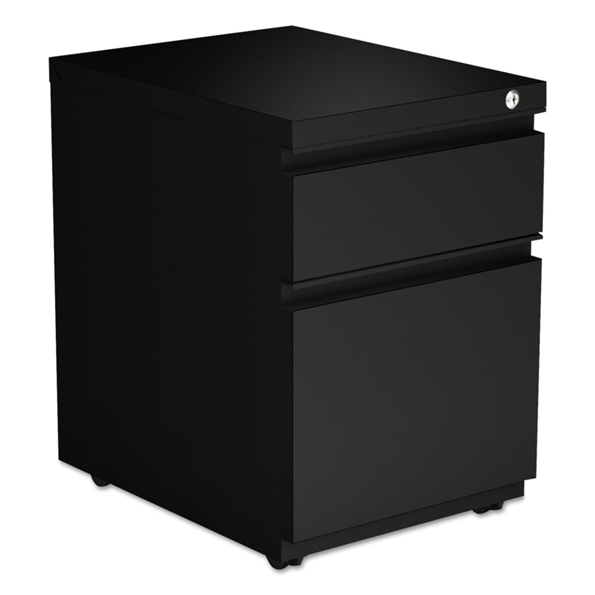 Parker Modern 2-Drawer Black Metal File Cabinet