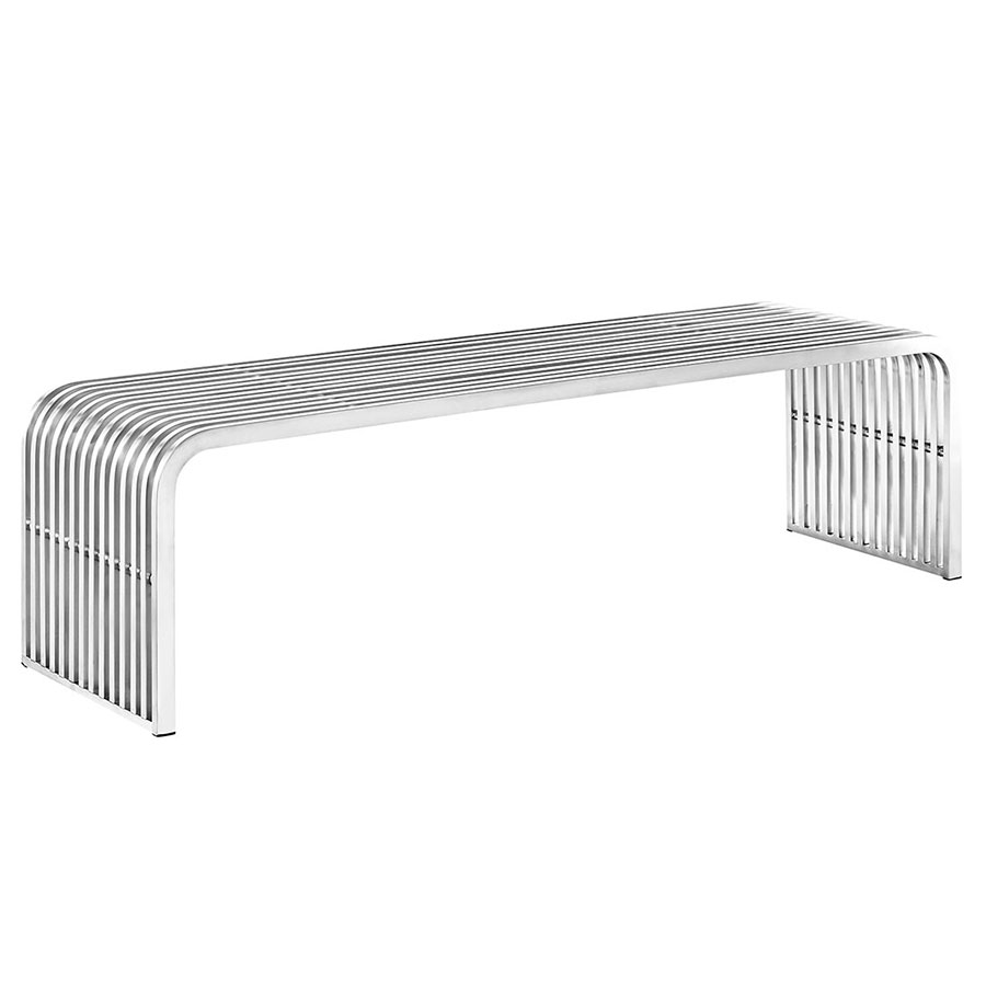 Parliament Modern Long Stainless Steel Bench
