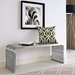 Parliament Contemporary Stainless Steel Bench