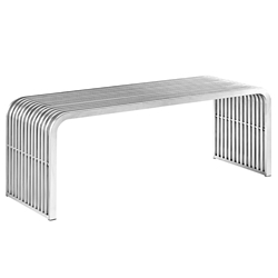 Parliament Modern Stainless Steel Bench