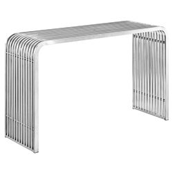 Parliament Modern Stainless Steel Console Table
