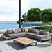 Parma Contemporary Outdoor Sectional with Coffee Table