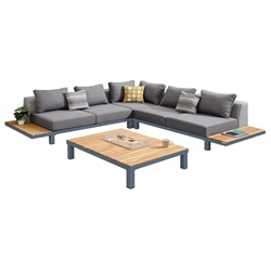 Parma Modern Outdoor Sectional with Coffee Table