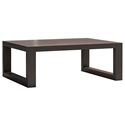 Modloft Parson Modern Coffee Table in Dark Eucalyptus Wood