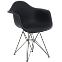 Pasadena Black Modern Arm Chair