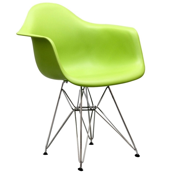 Pasadena Green Modern Arm Chair