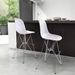 Pasadena White ABS Plastic + Chrome Modern Bar Stool