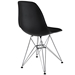 Pasadena Black ABS Plastic Modern Side Chair