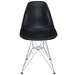 Pasadena Black Contemporary Side Chair