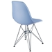 Pasadena Blue ABS Plastic Modern Side Chair