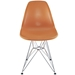 Pasadena Orange Contemporary Side Chair