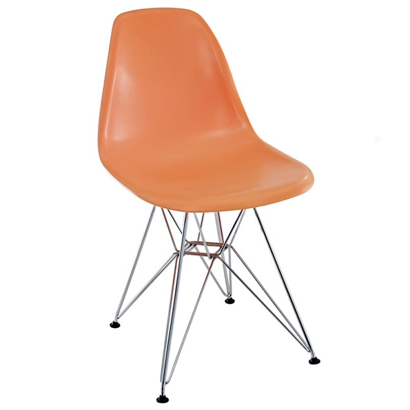 Pasadena Orange Modern Side Chair