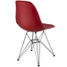 Pasadena Red ABS Plastic Modern Side Chair