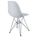 Pasadena White ABS Plastic Modern Side Chair