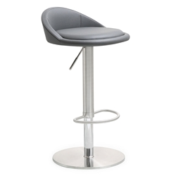 Pascal Gray Adjustable Modern Stool