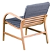 Pascal Modern Outdoor Chair - Back View