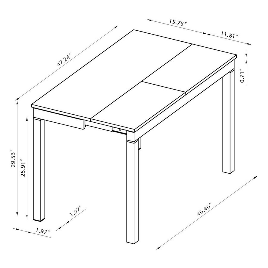 Passage convertible console dining table eurway - Console table that converts to dining table ...