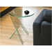 Pattison Clear Bent Glass Modern End Table - Room Shot