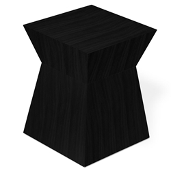 Pawn Contemporary End Table in Black Oak by Gus Modern