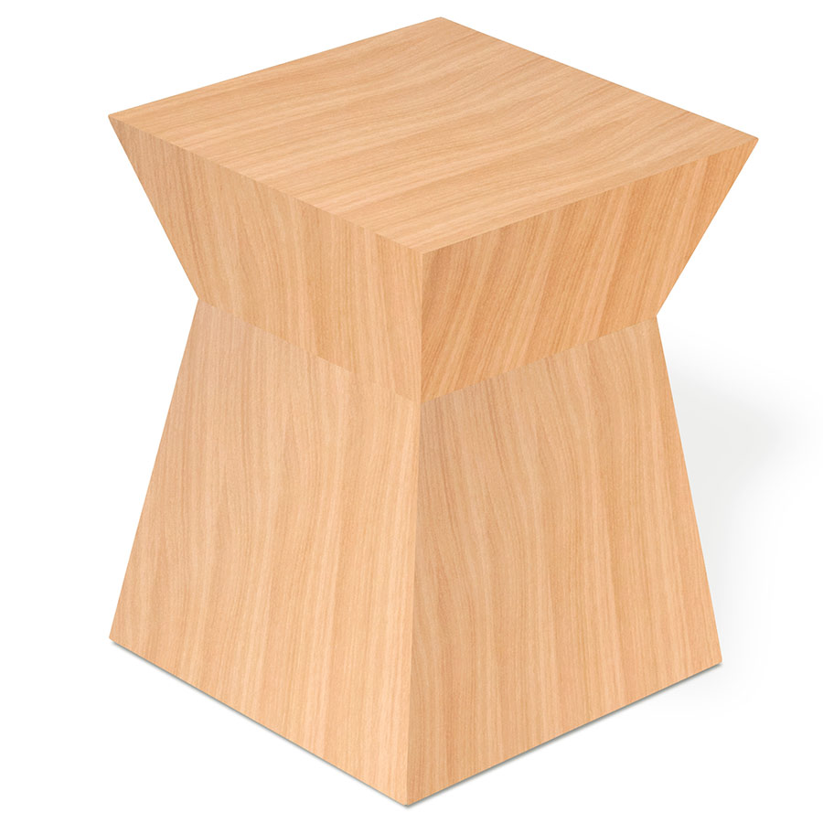 Pawn Contemporary End Table in Natural Oak by Gus Modern