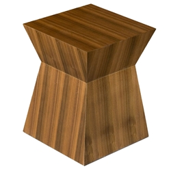 Pawn Contemporary End Table/Stool in Walnut by Gus Modern