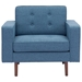 Pekko Blue Contemporary Lounge Chair