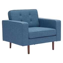 Pekko Blue Modern Lounge Chair