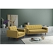 Pekko Green Fabric + Toon Wood Contemporary Lounge Chair
