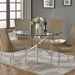 Peloton Contemporary Glass Top Dining Table
