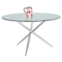 Peloton Modern Glass Top Dining Table