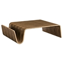 Pemberton Modern Walnut Coffee Table w/ Magazine Rack