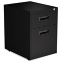 Penfield Modern 2-Drawer Black Metal File Cabinet