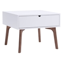 Pericles White + Walnut Modern End Table