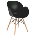 Perry Modern Black Arm Chair