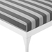 Persist Modern Gray + White Outdoor Chaise Lounge - Detail View