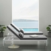 Persist Contemporary Gray + White Outdoor Chaise Lounge