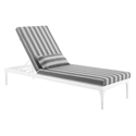 Persist Modern Gray + White Outdoor Chaise Lounge