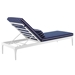 Persist Modern Navy + White Outdoor Chaise Lounge - Back View