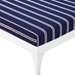 Persist Modern Navy + White Outdoor Chaise Lounge - Detail View